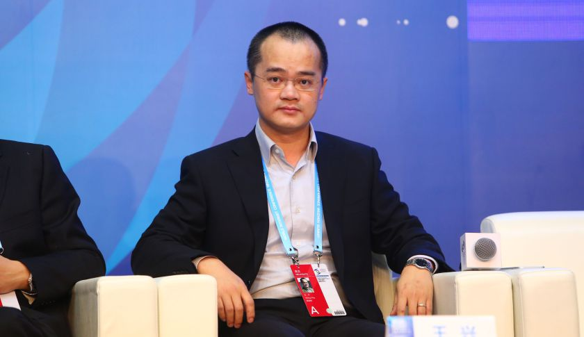 Wang Xing, co-founder and CEO of Meituan.com, attends a forum during the 2nd World Internet Conference, also known as Wuzhen Summit, in Wuzhen town, Tongxiang city, east China's Zhejiang province, 17 December 2015.