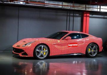 Louis Vuitton x Supreme Ferrari F12 Berlinetta: Yours for 190k