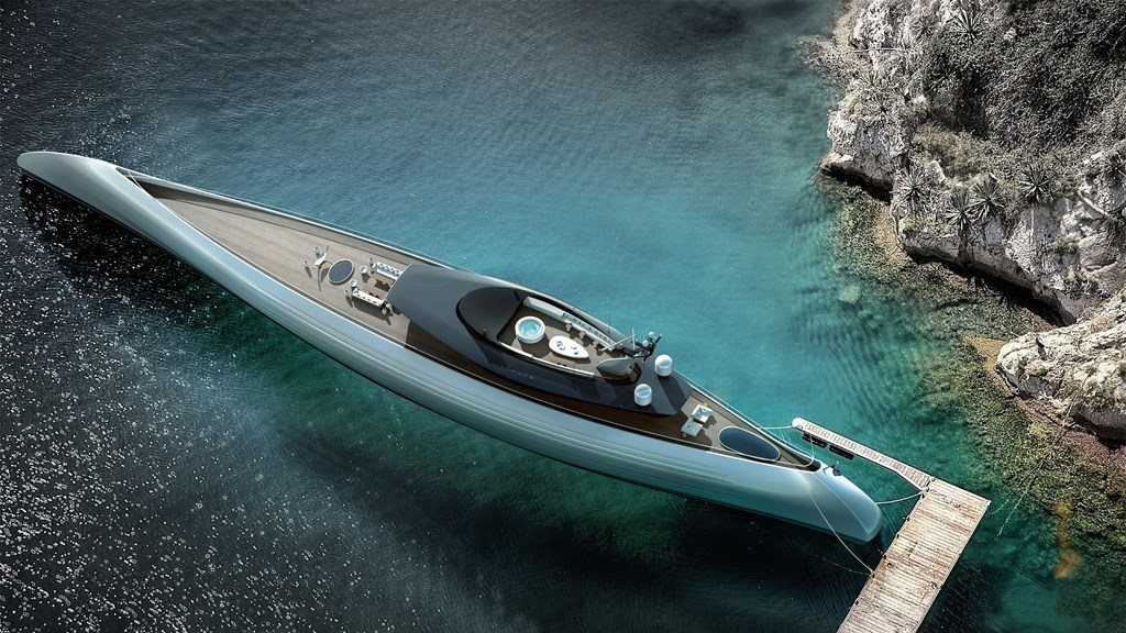 Tuhura Is Truly In A Category Of Its Own, Unlike Any Yacht On The Market.  Its Design Harkens Back To Ancient Times. The Exterior Styling Is  Reminiscent Of ...